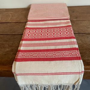 Hamam doek rood wit